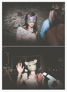 animal mask dance party.