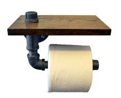 Turnbull Farms(TM) Reclaimed Wood and Pipe Toilet Paper Holder