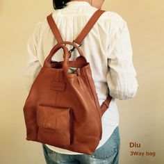 Soft look charming cute backpack.  Change in the color of the oil leather enjoy.  Cherry-blossom viewing, leisure, travel and shopping. .  Diu 3Way bag  http://kanden43.jp/?pid=1512908  #Diu #3Way #bag #Luc #LadiesFashion #FashionAccessories #NaturalFashion #fashionaccessories #miscellaneousgoods #NaturalGoods #Natural #Naturalsystem #selectshop #Japan