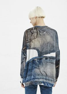 Anntian Velvet Sweatshirt (Fake Denim)