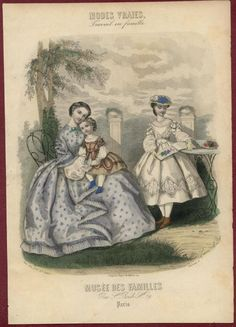 1860's French fashion plate