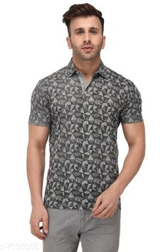 Tshirts Men's Printed Polo Neck Grey T-Shirt Fabric: Cotton Sleeve Length: Short Sleeves Pattern: Printed Multipack: 1 Sizes: S (Chest Size: 39 in Length Size: 27.5 in)  XL (Chest Size: 45 in Length Size: 29 in)  L (Chest Size: 43 in Length Size: 28.5 in)  M (Chest Size: 41 in Length Size: 28 in)  XXL (Chest Size: 47 in Length Size: 29.5 in) Country of Origin: India Sizes Available: S, M, L, XL, XXL   Catalog Rating: ★4.2 (484)  Catalog Name: Fancy Retro Men Tshirts CatalogID_1148441 C70-SC1205 Code: 853-7195056-999