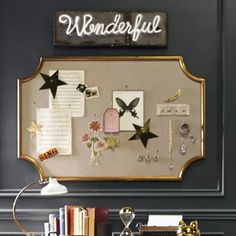 Gold Scalloped Statement Pinboard