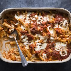 We know ricotta is a traditional addition, but it has a tendency to get dry and grainy when baked. Our update uses a creamy Parmesan béchamel, in addition to a tangy tomato sauce, which together make for a super flavorful finished dish—that won't dry out in the oven.