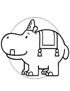 kleurplaat Bumba Pantuf het Nijlpaard