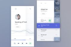 Social Music App Ui design