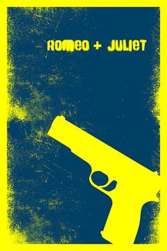 minimalist romeo + juliet movie poster