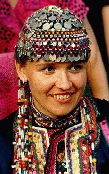 A Mari woman from the ancestral Finno-Ugric lands in Asia