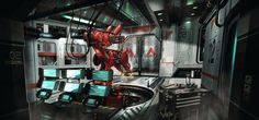 ArtStation - sci fi interior, Oscar Cafaro