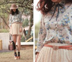 <3 the floral blouse and the bag