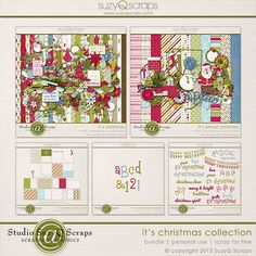 it's christmas digital scrapbook collection