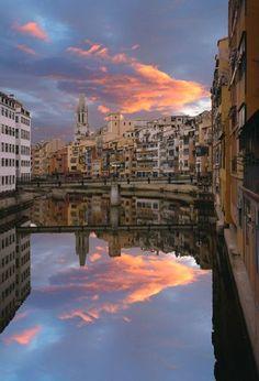 The river crossing Girona, Catalonia | Europe