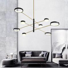 Függőlámpa, mely elengedhetetlen kelléke a modern otthonoknak. Gyarkorlatilag bármely helyiségben használhatod az enteriőrben. Kiváló minőségű és strapabíró alumíniumnak köszönhetően a lámpa rendkívül könnyen mozgatható, ugyanakkor időtállóságára sem lehet panasz. Pendant Light Fixtures, Pendant Lamp, Pendant Lighting, Modern Art Deco, Hanging Pendants, Modern Glass, Hanging Lights, Gold Material, Black Gold