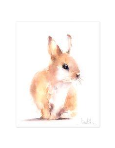 "Bunny ""Original"" Watercolor Painting Rabbit Watercolour by CanotStop $54.00 https://www.etsy.com/shop/CanotStop - Sophie"