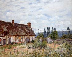 The Athenaeum - SISLEY, Alfred  French Impressionist (1839-1899)_Abandoned Cottage- 1894