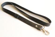 Leather lanyard id badge lanyard id badge black leather