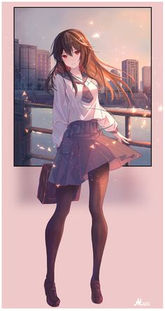 60 best ideas for basket drawing anime characters Anime School Girl, Anime Girl Cute, Beautiful Anime Girl, Kawaii Anime Girl, Anime Art Girl, Manga Girl, Anime Girls, Fan Art Anime, Anime Artwork