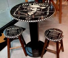 Saw this and thought instantly of you Jack Daniels Decor, Jack Daniels Drinks, Jack Daniels Whiskey, Jack Daniels Birthday, Jack Daniel's Tennessee Whiskey, Garage Design, Whisky, Man Cave, Diy