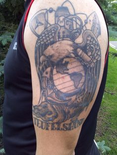 My Tattoo | Marine Corps Tattoos | Sgt. Grit Awesome Tattoos, Cool Tattoos, Marine Corps Tattoos, Future Tattoos, I Tattoo, Tatting, Detail, Coolest Tattoo, Lace Making