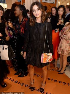 Jenna Coleman is the picture of elegance in a black puffball dress | Daily Mail Online