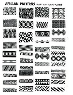 african patterns - ideas for zentangle