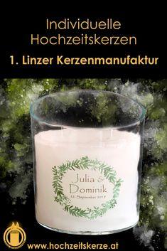 Ich fertige einzigartige Hochzeitskerzen nach individuellen Wünschen an. Ein Unikat für jedes Brautpaar. 100%ige Handarbeit aus Oberösterreich. Sie können nicht nur die Verzierung, sondern auch die Form der Kerze selbst bestimmen, da wir auch die Rohlinge nach Kundenwunsch selbst herstellen. Kerze mit Holz, Mantelkerze, Kerze mit Mineralien, Achat, Meteorit, Hochzeit selbstgemacht Standesamt Kirche Hochzeitsbrauch Geschenk Dekoration Kerze deko Trauung Trauspruch Kerzenshop Glass Of Milk, Form, Candle Decorations, Newlyweds, Wedding Ideas, Handarbeit
