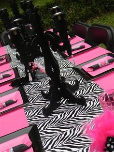 Damsel in Defense team building party table set up!