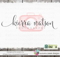 Photography Logo  Premade Camera Logo for by autumnscreek on Etsy