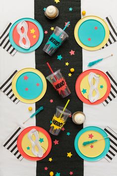 Learn how to make this fun modern and non character themed DIY super hero themed party. -Tell Love and Party Superhero Party Decorations, Superhero Theme Party, Spy Party, Kids Party Themes, Birthday Party Decorations, Birthday Ideas, Superhero Birthday Invitations, Happy Birthday Parties, Third Birthday