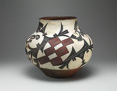 Water jar, about 1880, New Mexico, Acoma Pueblo.