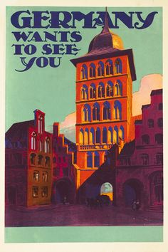 Germany wants to see you by Friese, Richard | Vintage Posters at International Poster Gallery