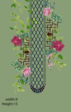 Embroded necklines on Behance Islamic Art Pattern, Pattern Art, Textile Prints, Textile Design, Textiles, Bunch Of Flowers Drawing, Flower Art Images, Rose Sketch, Folk Art Flowers