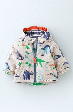 Mini Boden Jersey Lined Anorak (Baby Boys & Toddler Boys) available at #Nordstrom