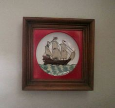 Framed Painted Bowl Art 9 1/2 X 9 1/2 by ThisandThatCrafter