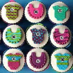 Cute baby shower cup cakes