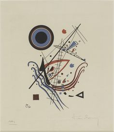 Vassily Kandinsky (1866 - 1944)  Blau  (Bleu)  1922  Lithographie en couleur (3 pierres : rouge, bleu, noir)