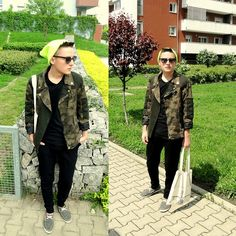 River Island Bag, Pull Shoes, Zara Trousers, Zara Jacket, Brylove Sunglasses, ĘĄ Shop In Wrocław Beanie