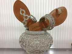 All that glitz Beaded Shoes, Beaded Sandals, Silver Sandals, Silver Shoes, Silver Beads, Leather Sandals, Silver Evening Shoes, Mystique Sandals, Toe Loop Sandals