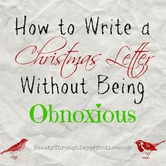 How To Write An Amazing Christmas Letter  Christmas Letters