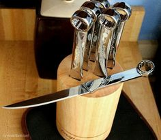 Kitchen knives made by Snap On tools