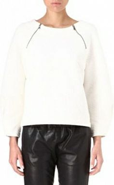 Marc By Marc Jacobs Cleo quilted sweatshirt Whisper white #SS14 #Minimal #Fashion