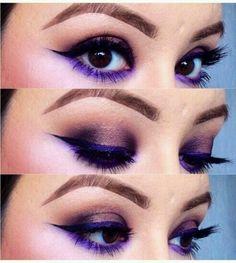 eyeliner schminktipps für braune augen kombiniert