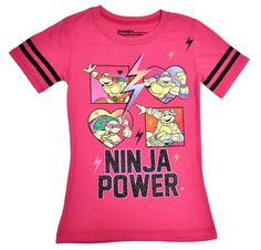 Teenage Mutant Ninja Turtles Power Girls Glitter Pink T-Shirt