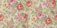 English Rose Paradise (1603/382) - Prestigious Wallpapers - An elegant wallpaper design featuring paint effect flowers such as roses and lupins, amongst smaller flowers and trailing foliage. Shown here in paradise. Other colourways are available. Please request a sample for a true colour match. Wide width product. Paste-the-wall product.