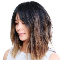Long textured but, plus barely there babylights with more around face and ends. The Raddest Spring Hair Trends Coming Out Of L.A.