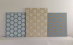 Customizable HandPainted Acrylic Chevron by SquirrelsAndStripes