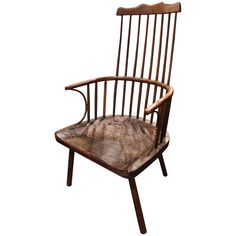 English Lancashire Primitive Chair | From a unique collection of antique and modern armchairs at https://www.1stdibs.com/furniture/seating/armchairs/