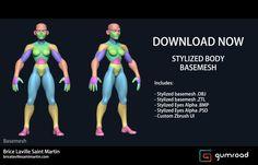 ArtStation - Stylized Body Basemesh, Brice Laville Saint-Martin