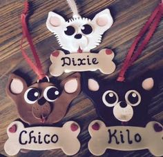 Personalized Chihuahua Ornaments
