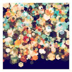 Cuben Cubic Spine - Excites - Aluminium print